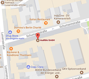 Audible BerlinOffice Map