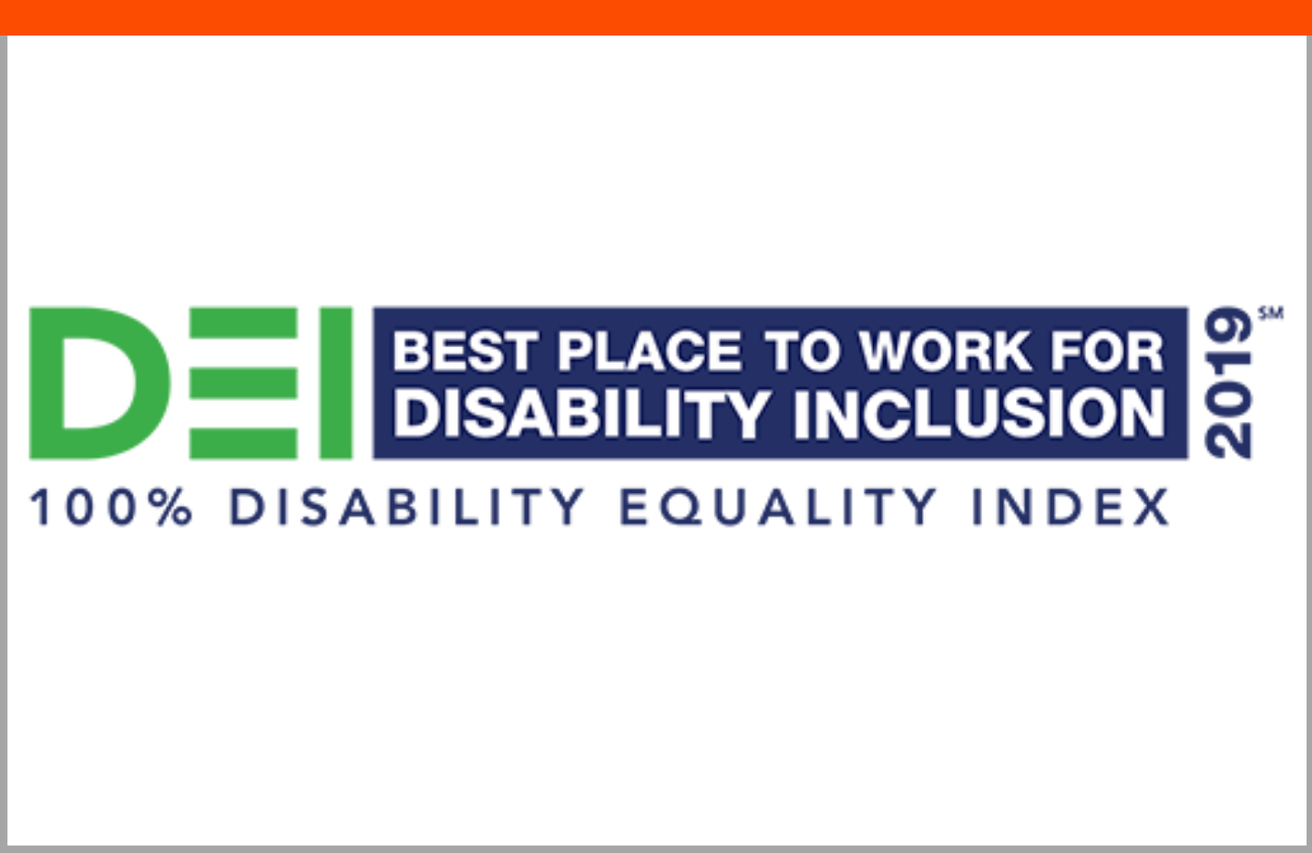 Best Place to Work for Disability Inclusion 2019 by the Disability Equality Index