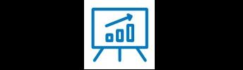 Icône de graphique sur un tableau.