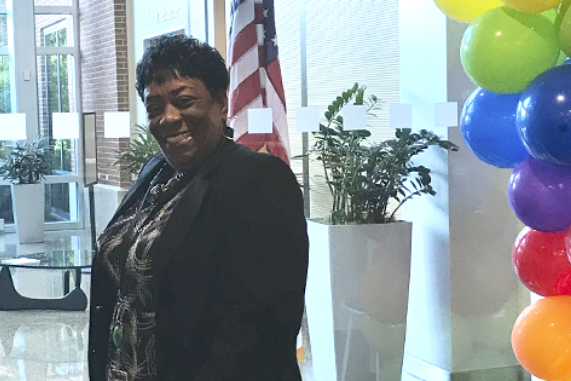 Cigna employee posing for a photo at one of our Employee Resource Group events.