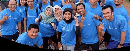 Cigna Indonesia team having a little fun.