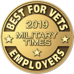 Award for 2019 Best for Vets Military Times