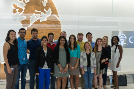 Graduate and MBA students in our Bloomfield, CT headquarters