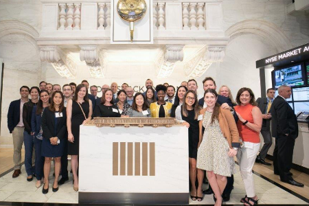 Our graduate interns visiting the New York Stock Exchange