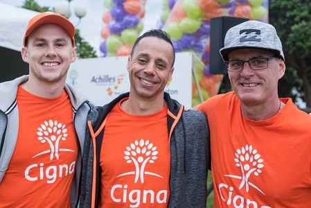 Cigna New Zealand teammates posing together for a group photo.