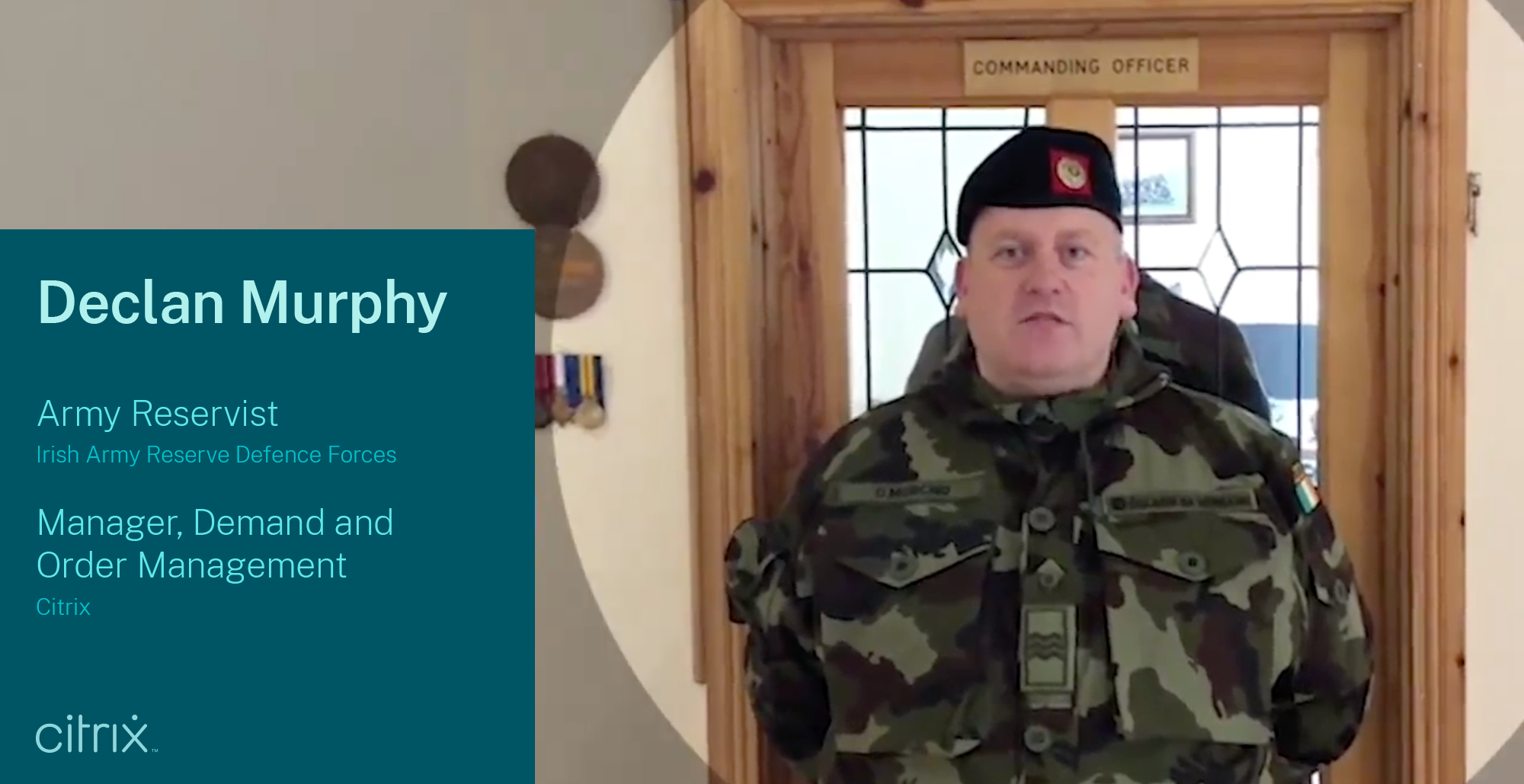 Declan Murphy, Soldier in the Reserve Defense Forces in Ireland