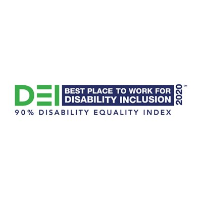 Certified Best Place to Work for Disability Inclusion
