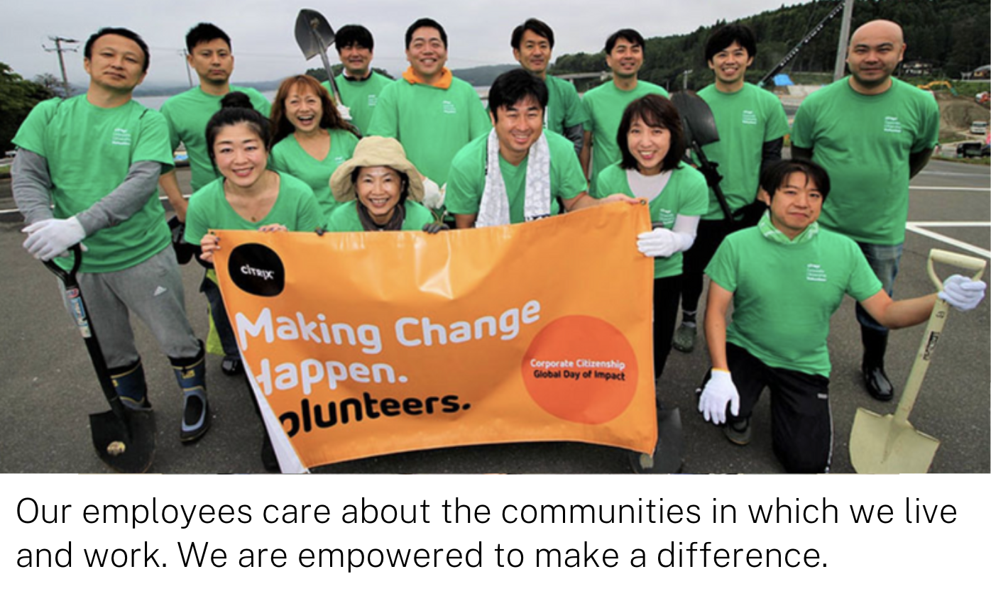 Our employees care about the communities in which we live and work. We are empowered to make a difference.