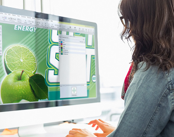 Photograph of ESKO associate designing product