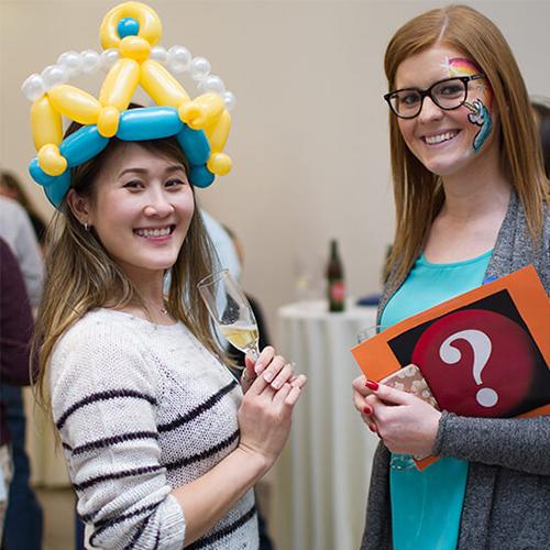 Photograph of Molecular Devices associates at a party