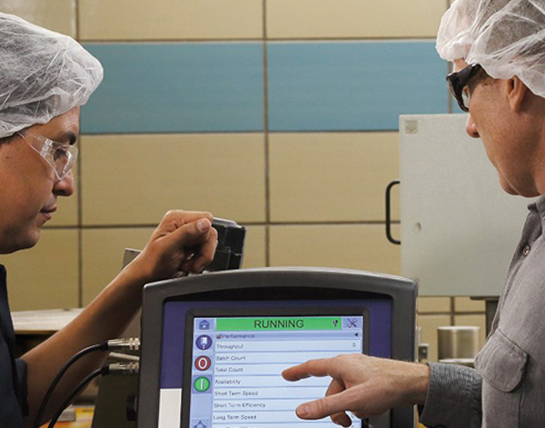 Photograph of Videojet associates in lab