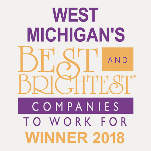 West Michigan's Best and brightest companies to work for in the nation Winner 2018