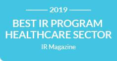 IR Magazine Best IR Program Healthcare sector