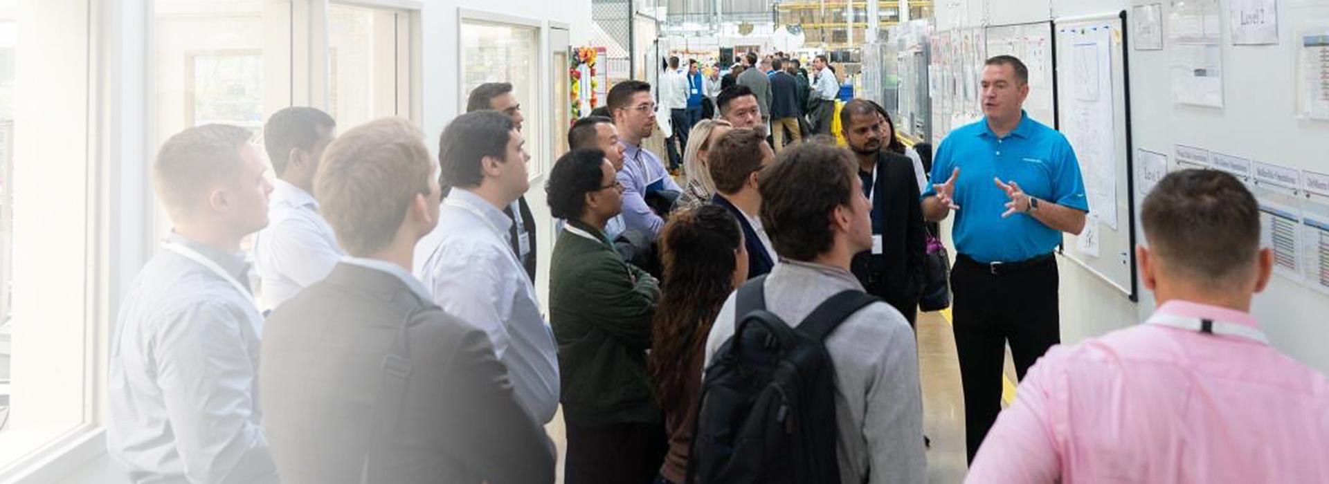 Photograph of Videojet associates in presentation