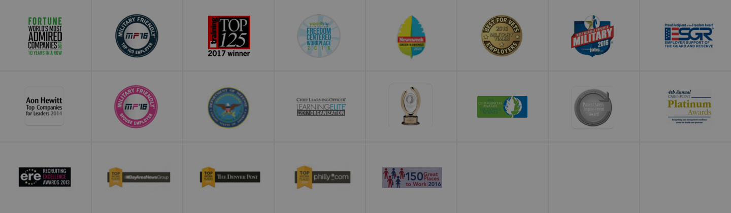 Awards page banner