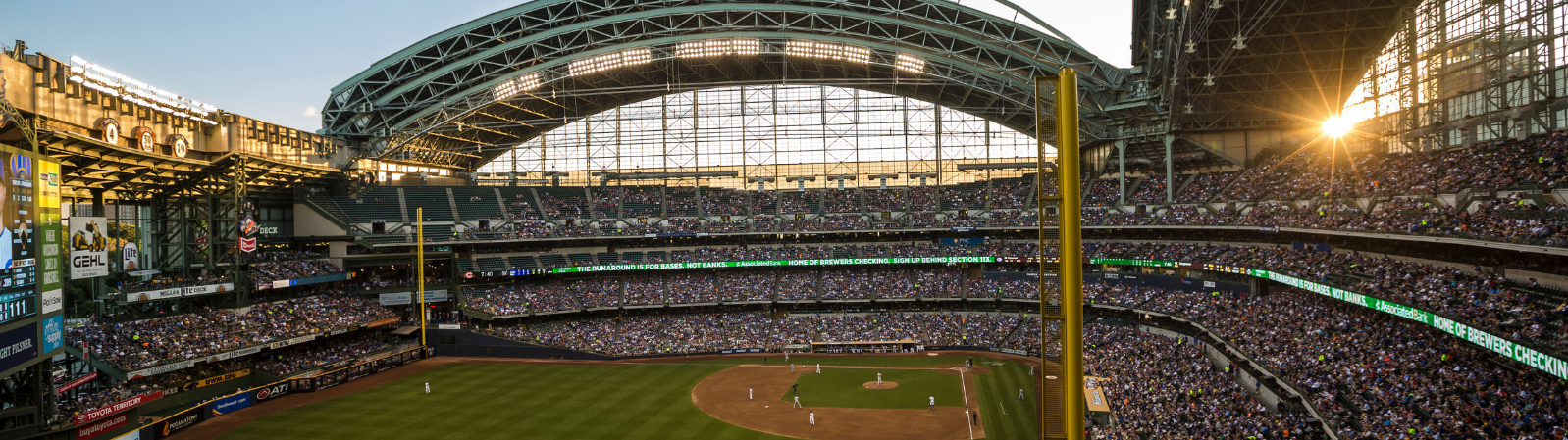 Miller Park in Milwaukee, Wisconsin