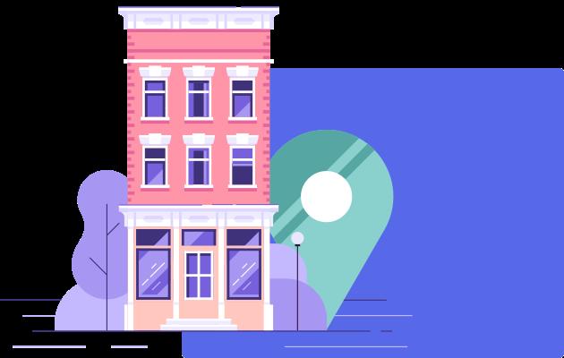 location banner