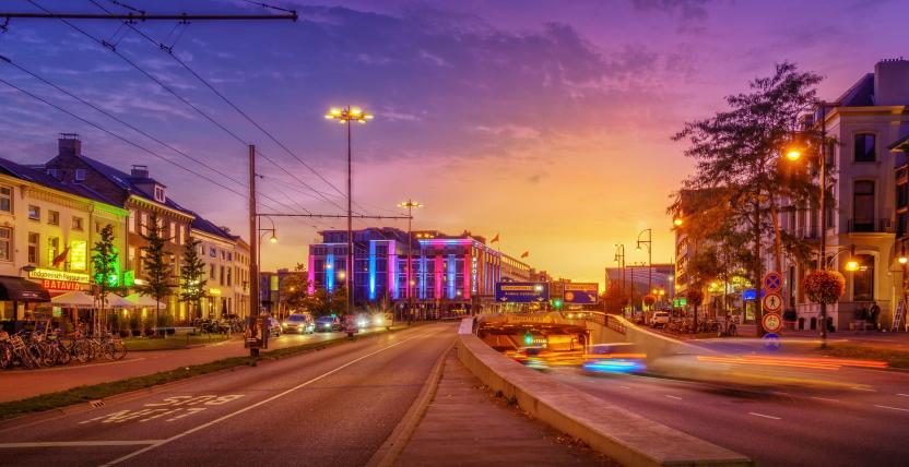 Arnhem at night