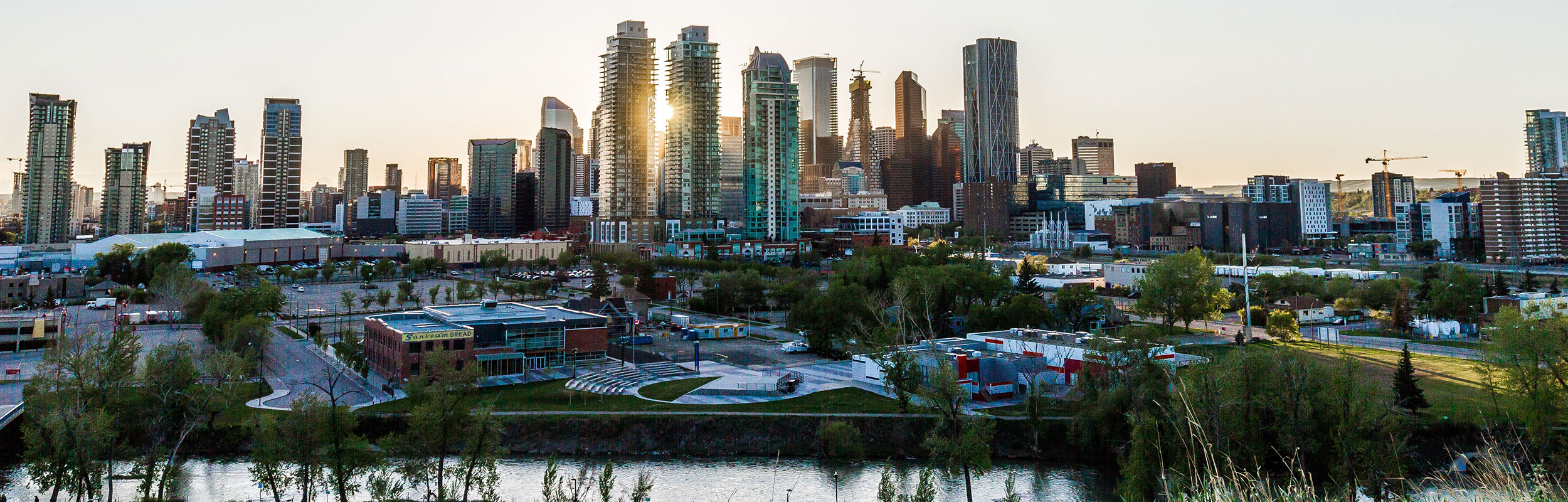Skyline of Cochrane, Alberta, Canada