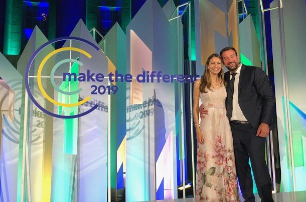 Cérémonie Make the Différence avec Audrey, finaliste Monde