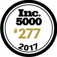 Ranked #277 in Inc. 5000