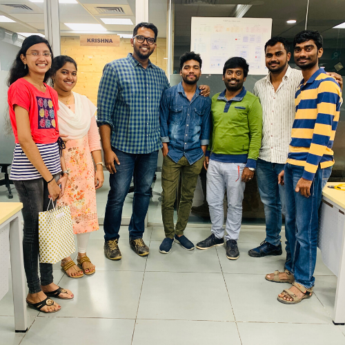 Employees in the India office