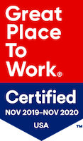 Best Places to Work 2019-2020 certification