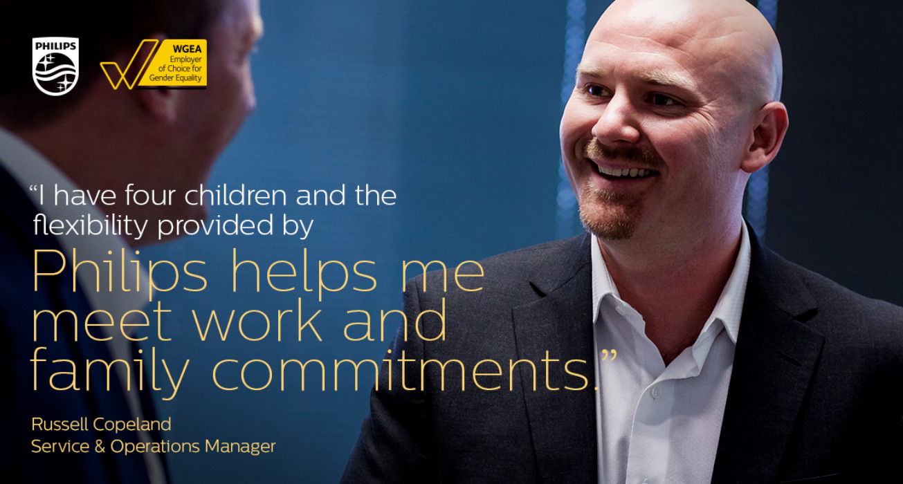 Philips helps me meet work and family commitments.