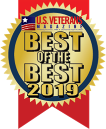 Best of the Best Top Veteran-Friendly Companies U.S. Veterans Magazine 2019 badge