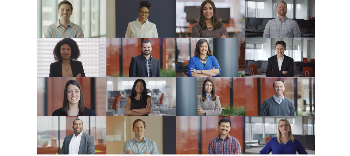 Employee photo collage
