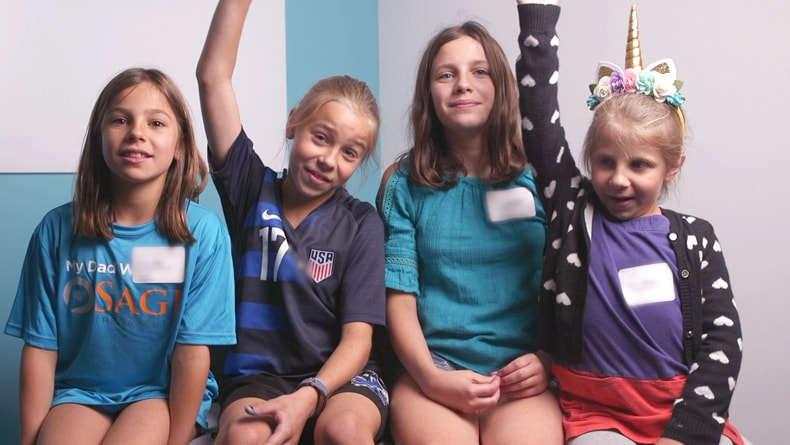 Zoe, Allegra, Hayden and Avery