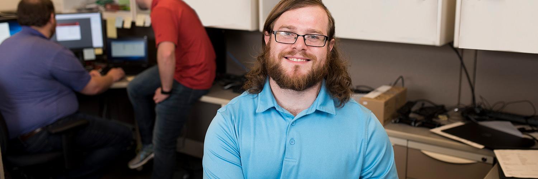 Information Technology male employee