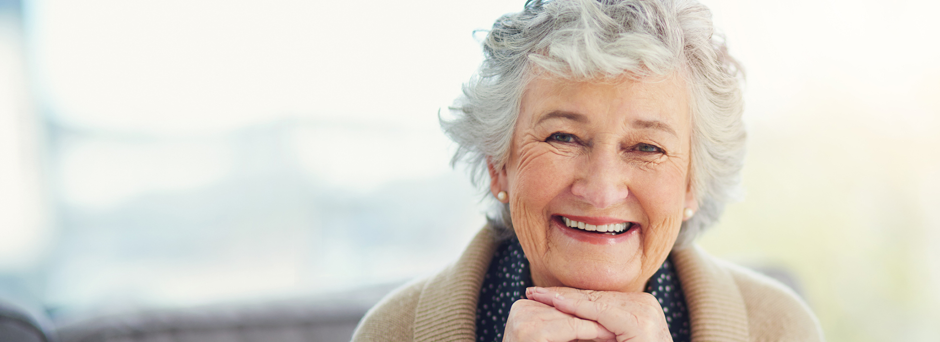 image of a happy female senior