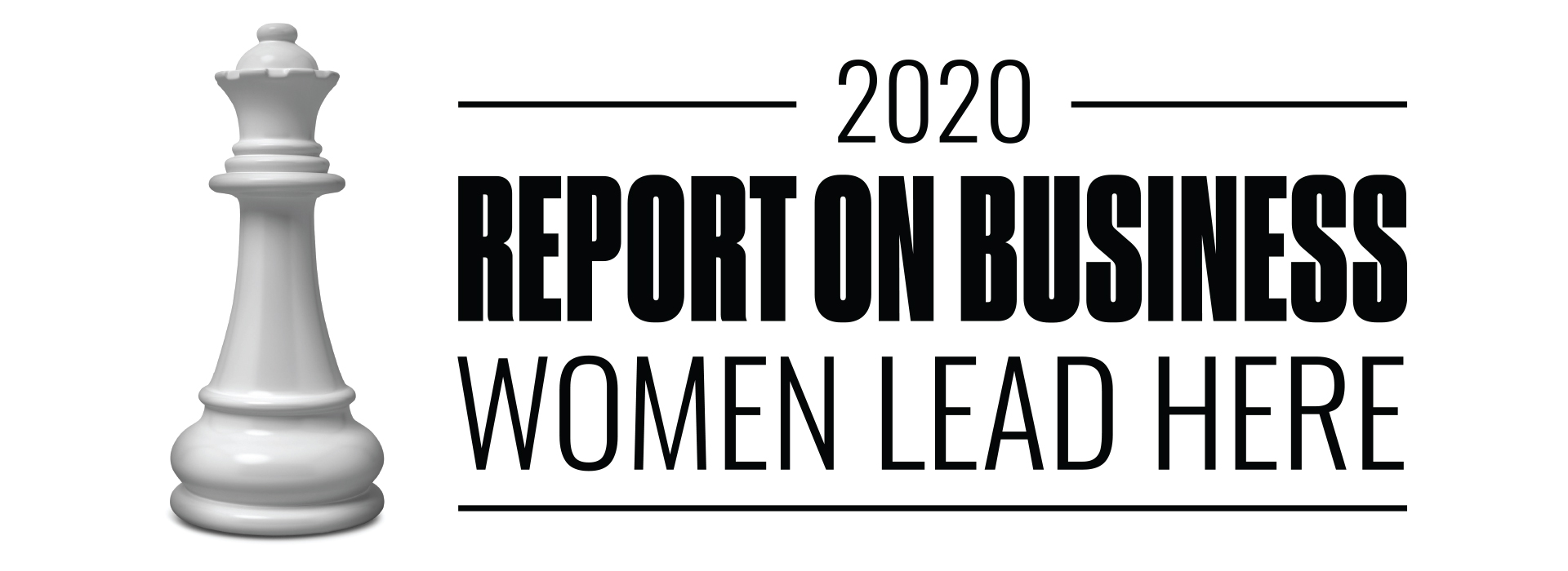 logo of 2020 Report on Business Women Lead Here
