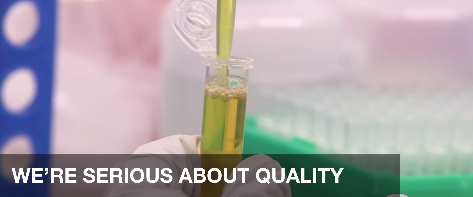 WE'RE SERIOUS ABOUT QUALITY