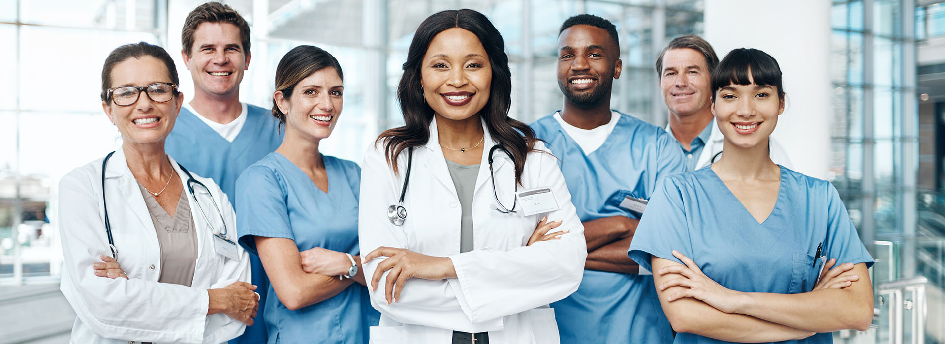 diverse healthcare team