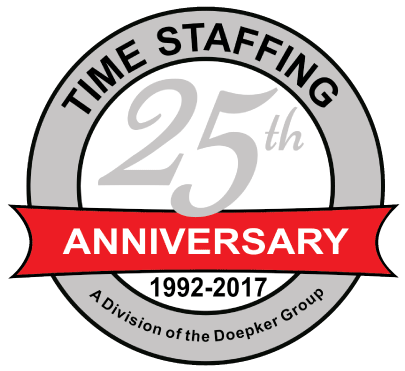 25Yrs Anniversary Time Staffing