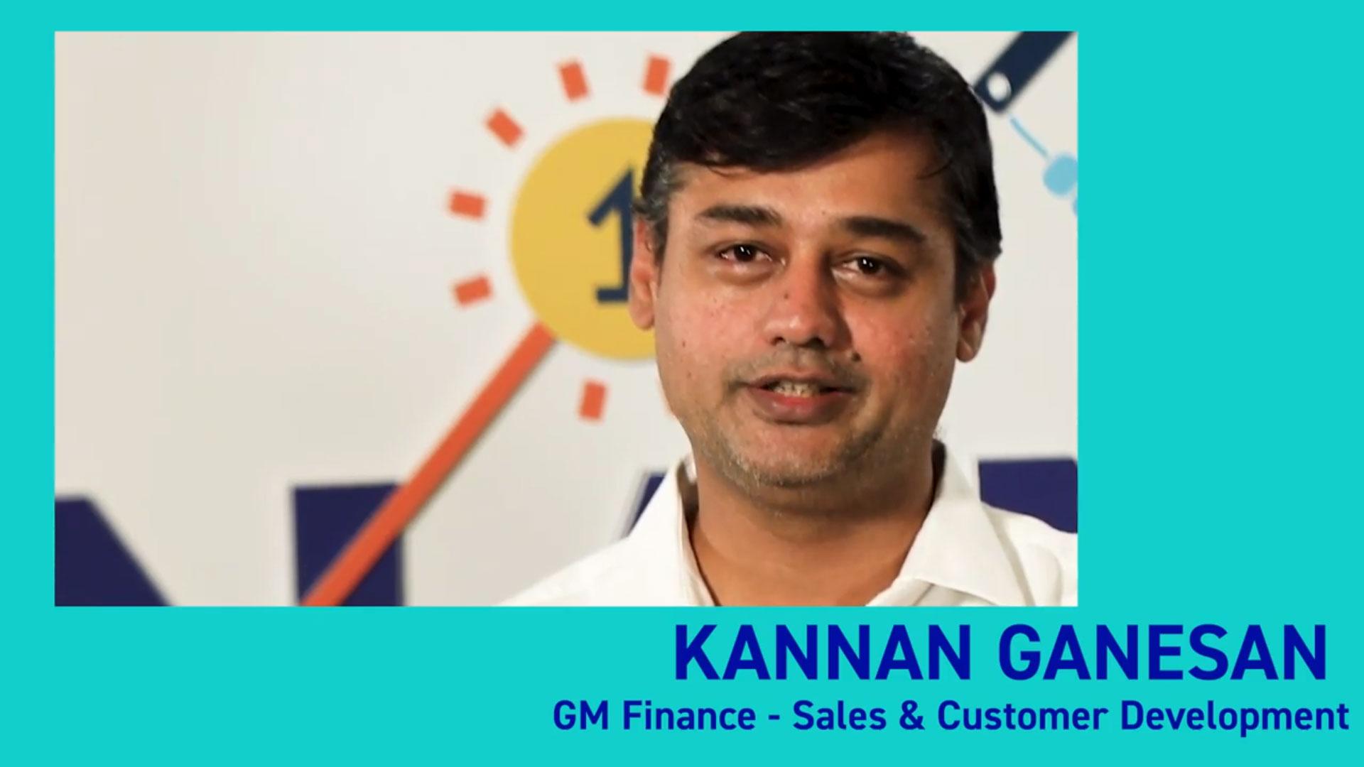 Kannan Ganesan GM Finance - Sales & Customer Development