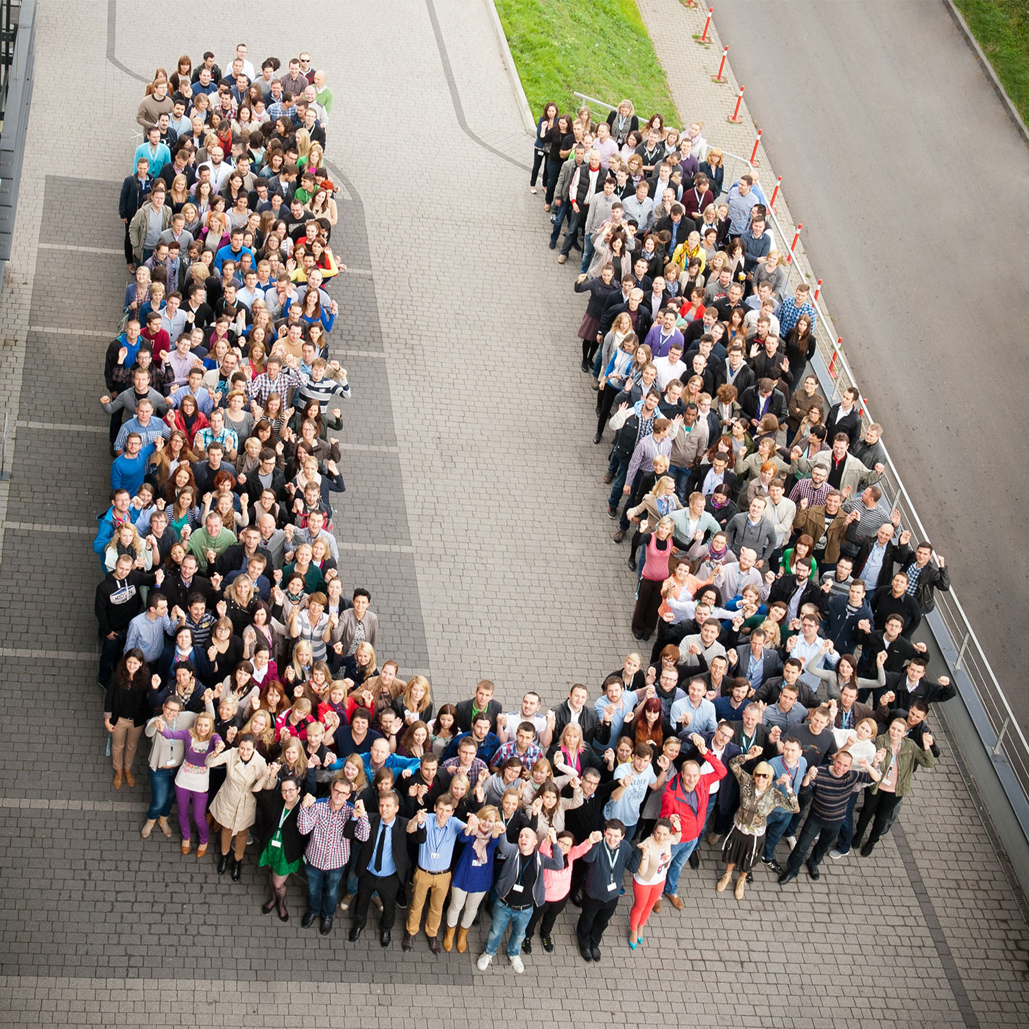 "people forming the Unilever ""u"""