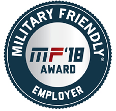 Military Friendly Employer Award 2018